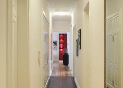 Blick vom Eingang Richtung neues Wohnzimmer